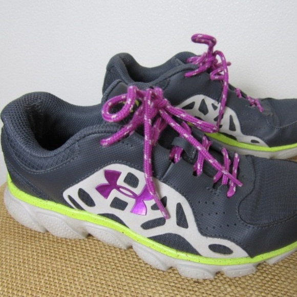 Under Armour Shoes Womens Gray Purple Sneakers Poshmark